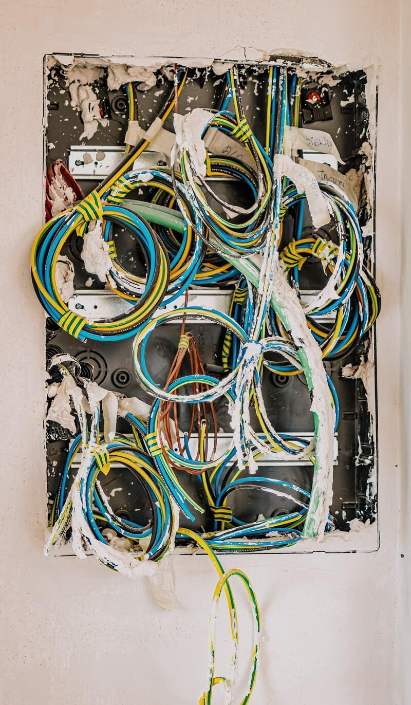 house rewire open wall